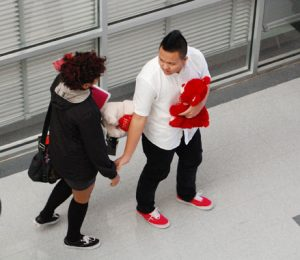 Students express the joys of Valentiens Day in the halls of CHF.